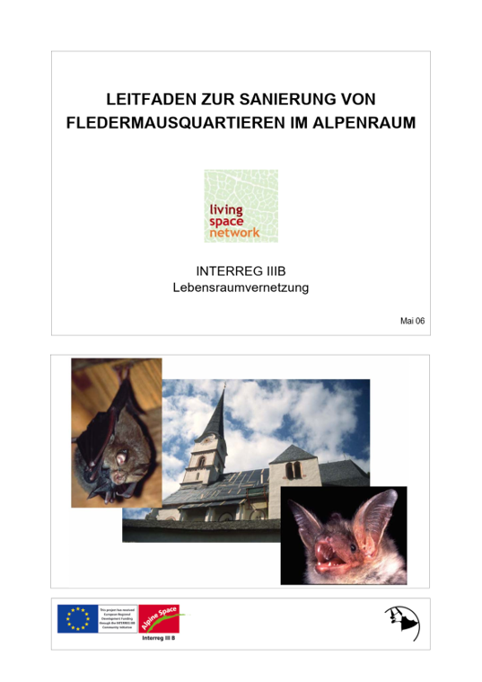 Leitfaden zur Sanierung von Fledermausquartieren im Alpenraum