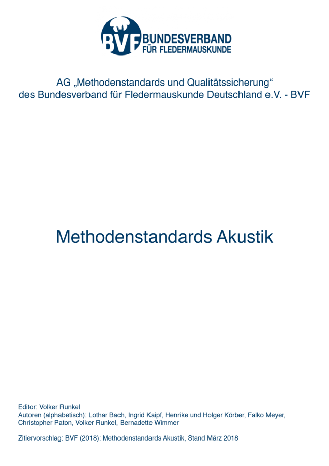 Methodenstandards Akustik