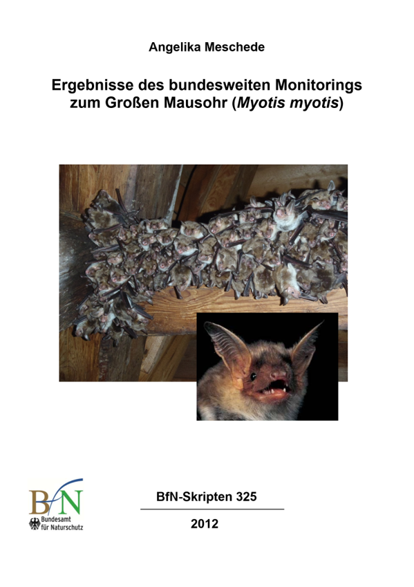 Ergebnisse des bundesweiten Monitorings zum Großen Mausohr (Myotis myotis)